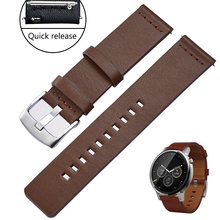 REMZEIM 18mm 20mm 22mm 24mm Leather Watch band Strap for Amazfit Huawei GT Galaxy Watch 42 46mm Gear S3 WatchBand Quick Release(China)