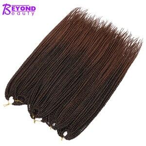 Beyond Beauty szydełkowe warkocze Micro Box warkocze syntetyczne włosy plecione przedłużanie włosów włókno termoodporne Ombre warkocze 14 18 22 inch