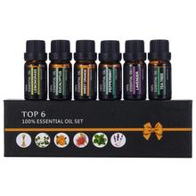 6Pcs/set 100% Pure Natural Aromatherapy Oils Kit 10ml For Humidifier Water-solub