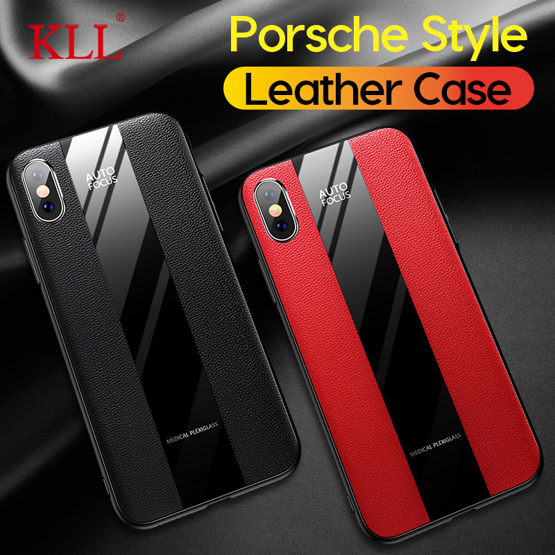 Porsche Style Phone <font><b>Case</b></font> for <font><b>iPhone</b></font> 11 Pro Max X XS Max XR Luxury PU <font><b>Leather</b></font> Soft <font><b>Case</b></font> for <font><b>iPhone</b></font> 7 8 6 <font><b>6s</b></font> Plus <font><b>Silicone</b></font> Cover image