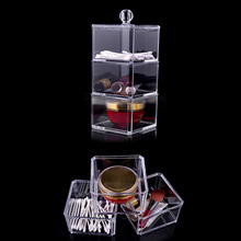New Crystal Transparent Jewelry And Makeup Organizer Clear Cosmetic Organizer Storage Display Box Make Up Organizers New new arrive hot 2pc set portable jewelry box make up organizer travel makeup cosmetic organizer container suitcase cosmetic case