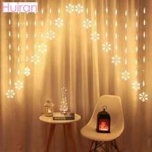Шторы со снежинками рождественские светодиодсветодиодный огни
