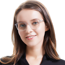SASAMIA Glasses Transparent Clear Frame Womens Eyeglass Acetate Square Spectacle Eye Frames For Women