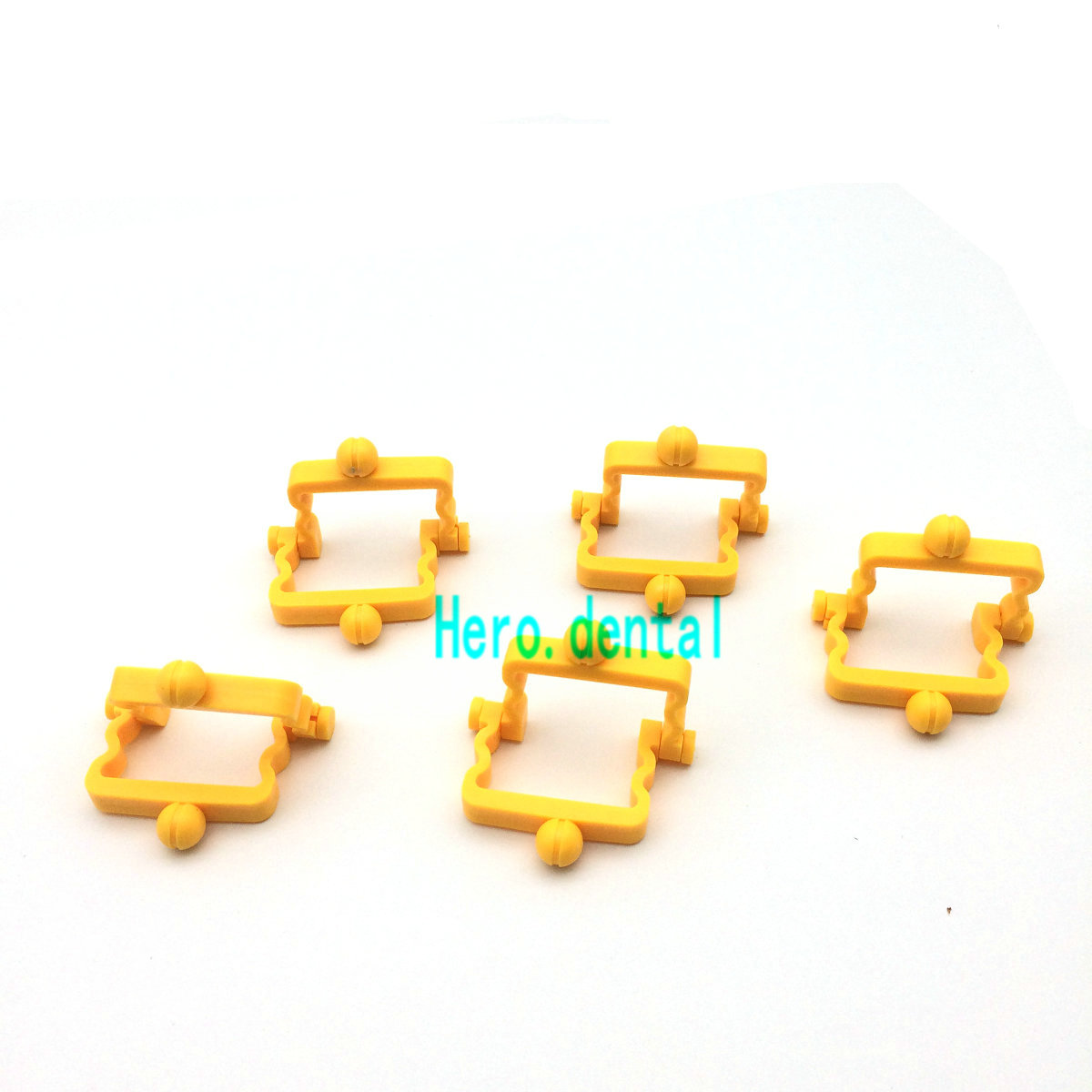 100 Sets/lot Articulator Dental Lab Technician Products Small Disposable Yellow Plastic Articulator