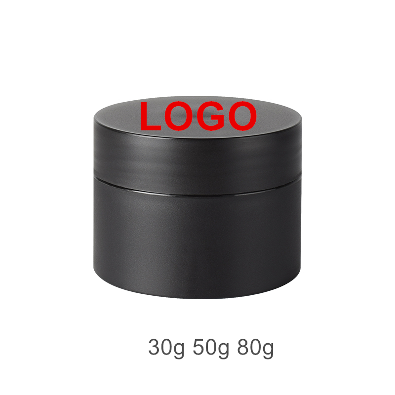 50pcs/lot 30g 50g 80g Black White Matte Frosted PP Plastic Pot Jars Double Wall Thickened Container For Face Hand Body Cream