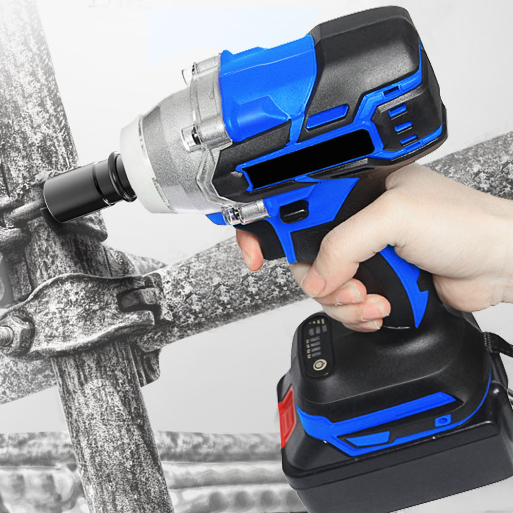 18V Brushless Cordless Wrench Drill Power Tools Variable Speed Electric Impact Wrench Host