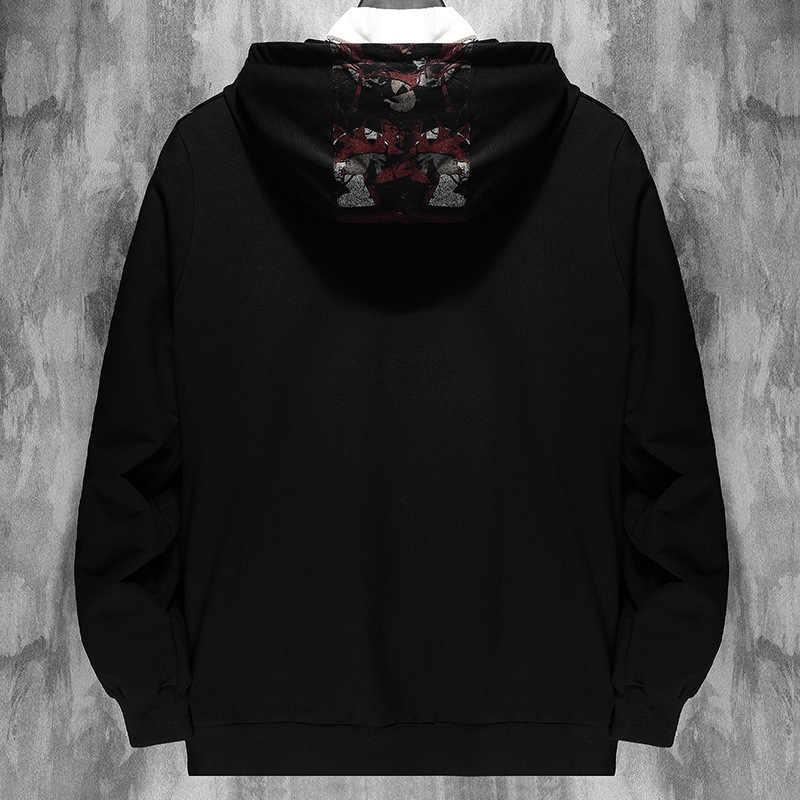 Neue 2020 Frühling Herbst Männer Design Kleidung Beiläufige Lose Street Bomber Schwarz Jacke Plus OverSize M-6XL 7XL 8XL 9XL