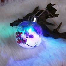 Christmas Tree Balls Clear Plastic Ornaments Fillable LED Lights For Garden Home Patio Wedding Anniversary Christmas Decorations