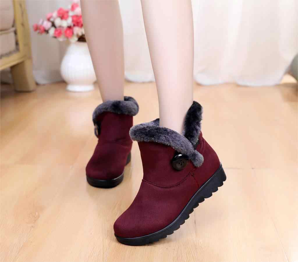 2019 Kadın Kar Botları Bayan Sıcak Kış Ayakkabı Kadın Sneakers Süet yarım çizmeler Kadın Artı Boyutu 35 ~ 43 st480