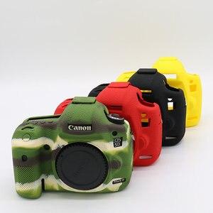 Image 2 - سيليكون الجلد DSLR حقيبة كاميرا الجسم حالة لكانون EOS R 6D 80D 800D 750D 4000D 5DSR 5D مارك الثالث الرابع 5D3 5D4 200D SL2 T100 T7i