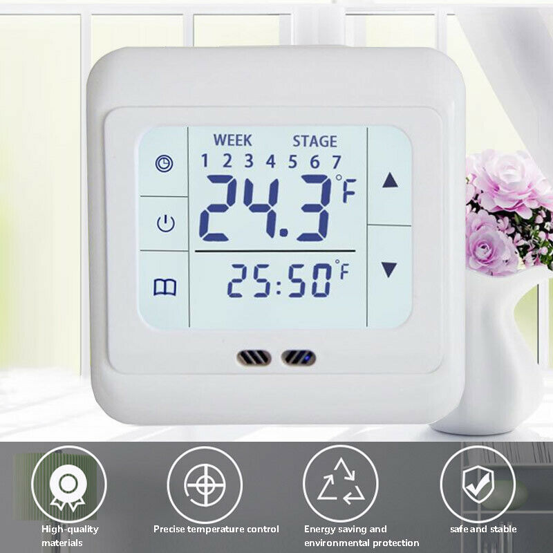 LCD Touch Screen Heating Thermostat Thermoregulator For Warm Floor Electric Heating System Temperature Controller