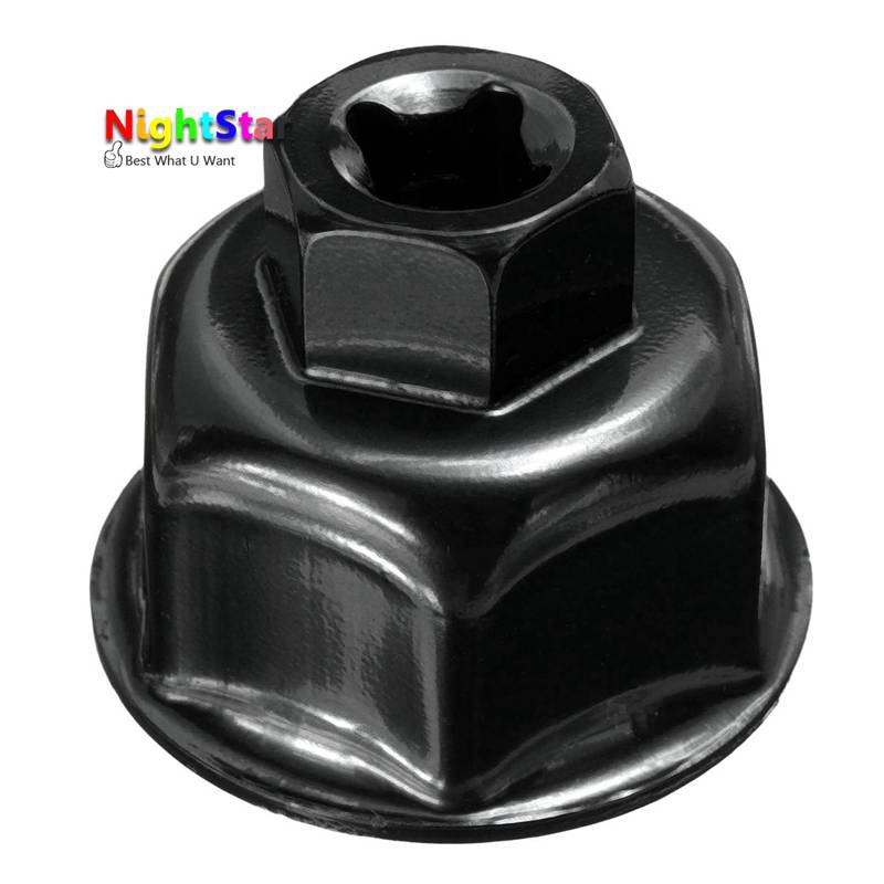 Binoax 27mm 32mm 36mm preto tampa da chave do filtro de óleo carro soquete unidade para bmw para mini cooper para volvo para audi