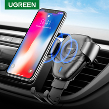 Ugreen Wireless Charger Car Phone Holder for Samsaung S10 S9 10W Fast Wireless Charging for iPhone X 8 Qi Wireless Charger