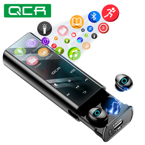 QCR Q1 Wireless Bluetooth Earphone Earbuds Multi-function MP3 Player Earbuds IPX7 Waterproof 9D TWS Earphone 6000mAh Power Bank(China)