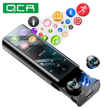 QCR Q1 auriculares inalámbricos Bluetooth, auriculares multifunción para reproductor de MP3, auriculares IPX7 resistentes al agua 9D TWS, batería externa de 6000mAh