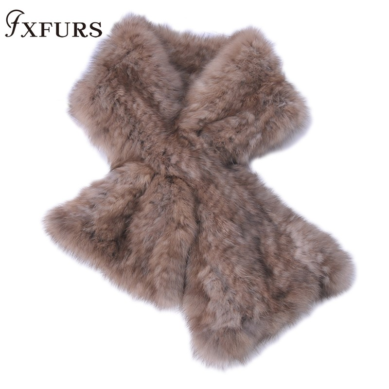 2019 haut de gamme femmes véritable 100% réel Sable fourrure tricoté écharpe naturel vison fourrure foulards dame mode hiver enveloppes fille écharpe solide