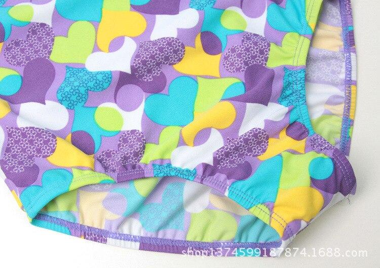 KID'S Swimwear Girls Hypotenuse One-piece Swimming Suit Infants Child Baby Camisole Fashion Heart Flower One-piece Sun-resistant