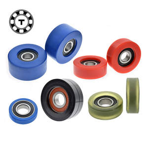 Bearing pulley POM rubber rolling pulley INNER diameter 20 plane regulating wheel polyurethane soft glue slightly hard PUd20