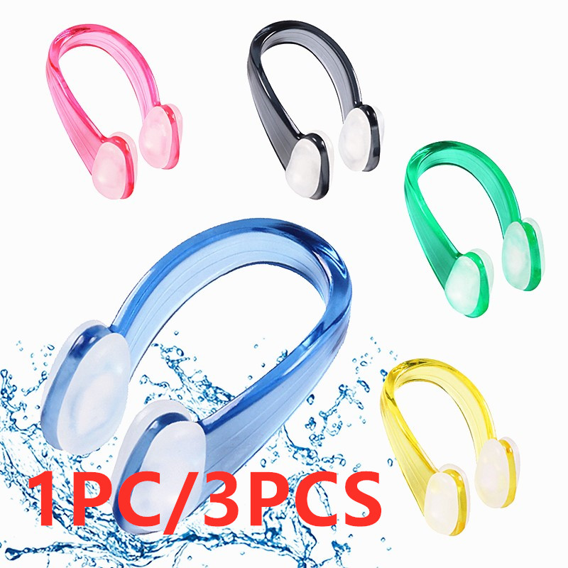 1PC/3PCS Unisex Silicone Swimming Nose Clips Soft Nose Clip Waterproof Nose Clip For Children Adult Water Sports Accessories