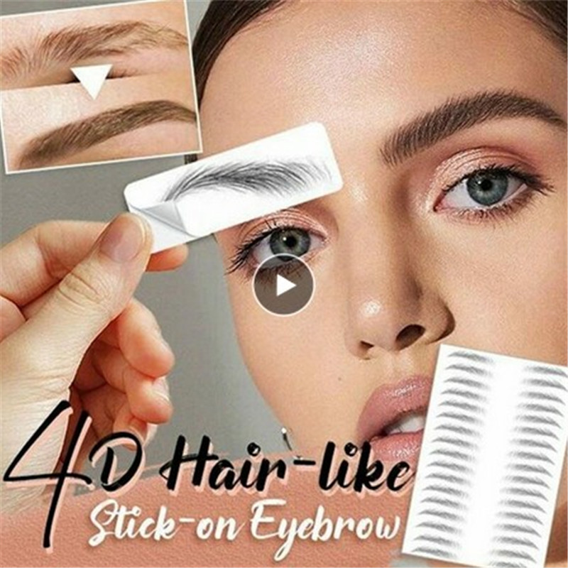 4D Hair Like Authentic Eyebrows 4D Imitation Ecological Eyebrows Eyebrow Tattoo Sticker Water-based Brow Stickers False Eyebrows