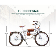 "Electric bike 500W Electric Fat Bike Beach Retro Bike Cruiser Electric Bicycle Retro Electric Bike Classic Vintage electric cheap 351 - 500w Lithium Battery Two Seat 24"" 30-50km h Brushless 31 - 60 km Aluminum Alloy Standard Type KX03 500w electric bicycle"