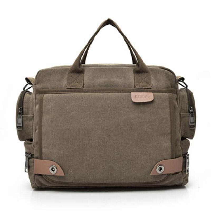 NEW Leather Briefcases Men  Laptop Briefcase  Men's Canvas Messenger Shoulder Bag Crossbody Sling Briefcase Bags SatchelA0605#30