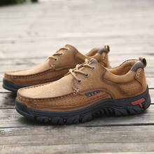 Fashion Men Loafers Flat Mens Casual Shoes Men Genuine Leather Loafers Breathable Autumn comfortable Shoes Outdoor Sneakers