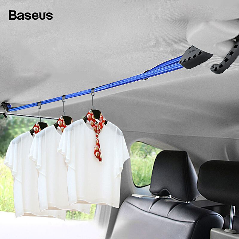 Baseus Strong Elastic Strap Adjustable Tension Belt Car Clothesline Hook Cargo Luggage Lashing Buckle Rope For Motorcycle Travel