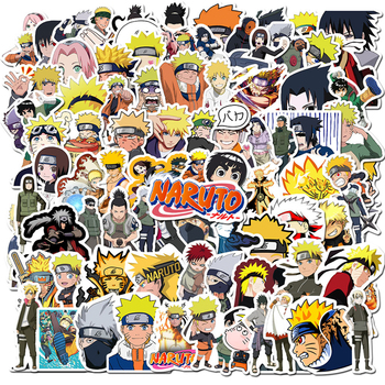 100Pcs/lot Sticker Japan Anime Naruto Stickers Cartoon for Snowboard Laptop Luggage Fridge Car- Styling Vinyl Decal Stickers image