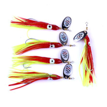 Pike Spinners Spoon Metal Bait Sea Squid Fishing Lure Tackle Trout 3PCS Spinning Spoonbait Rotating Artificial Fake Baits