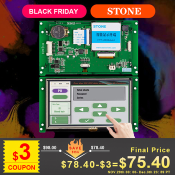 STONE 5.0 Inch HMI TFT LCD Touch Panel with RS232/RS485/TTL Interface for Equipment for Panel 4 3 inch hmi tft lcd display with serial interface rs232 rs485 ttl for equipment use