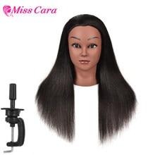 100% Echthaar gerade Mannequin Kopf Friseur Haar Styling Ausbildung Kopf für Kosmetik Puppe Maniquins Praxis Kopf
