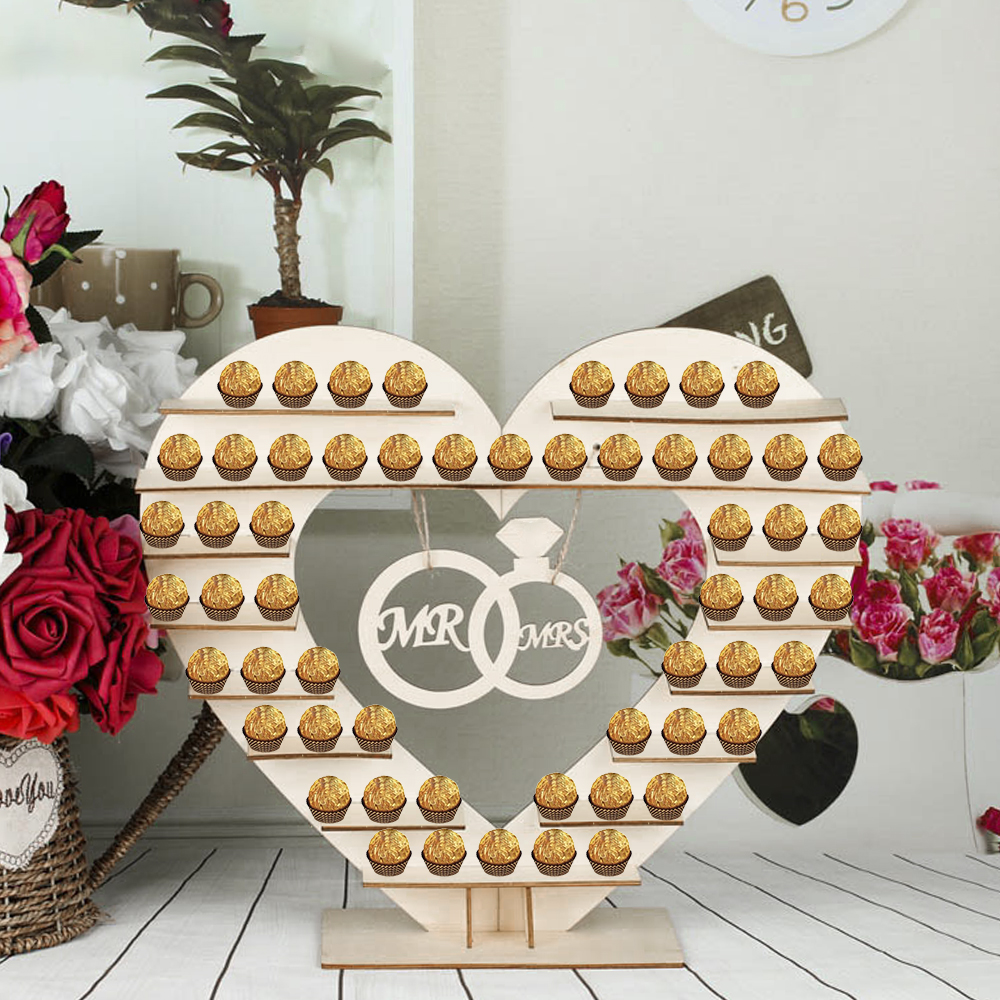Wooden Chocolate Stand Rustic Decoration For Wedding Christmas Party Thanksgiving Decoration Table Donut Wall Decor Events