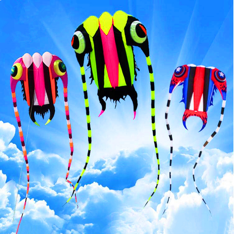 Free Shipping New Design 7sqm Trilobites Soft Kites Line Ripstop Nylon Fabric Kite Weifang Kites Factory Octopus Jellyfish