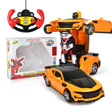 2In1 RC Car Transformation Robots Sports Vehicle Remote Control Cars Model Racing Toys Deformation Car RC Robots Children Gifts znatok robots