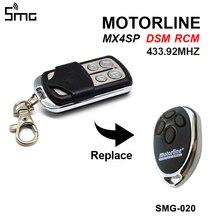 שער בקרת עבור MOTORLINE mx4sp DSM RCM מרחוק דלת מוסך פותחן 433.92MHz MOTORLINE שיבוט בקר