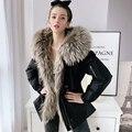 Dabuwawa Winter Thick Women Hooded Parkas Long Sleeve Raccoon Fur Collar Female Outwear Jacket Coat Casual Ladies DN1DPK015