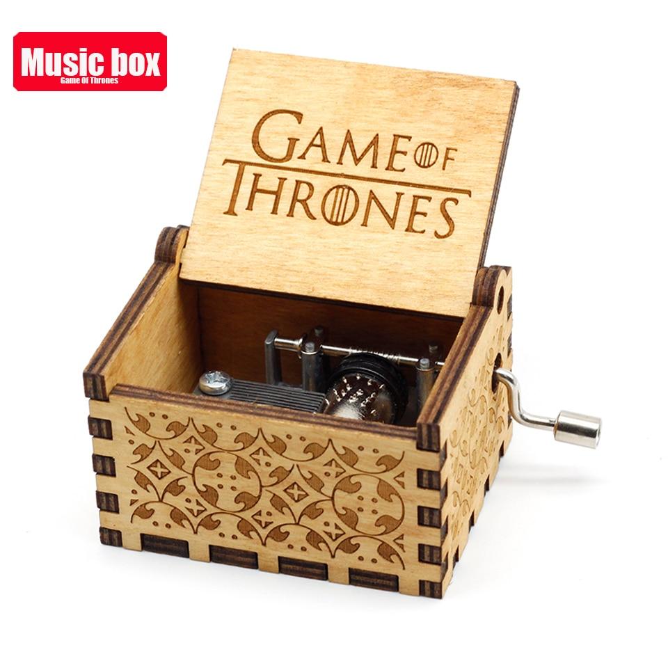 Лидер продаж деревянная ручка музыкальная шкатулка игра трон Пираты Кариб Звездные войны замок Inthe Sky Рождественский подарок - Цвет: Game of Throne