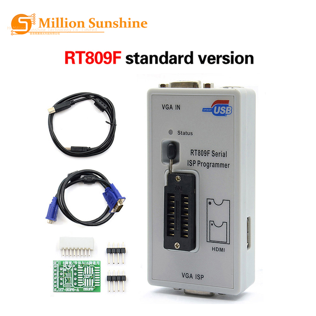 Freies Verschiffen 100% Original Neueste RT809F ISP Programmierer/RT809 lcd usb programmierer Reparatur Werkzeuge 24 25 93 serise IC