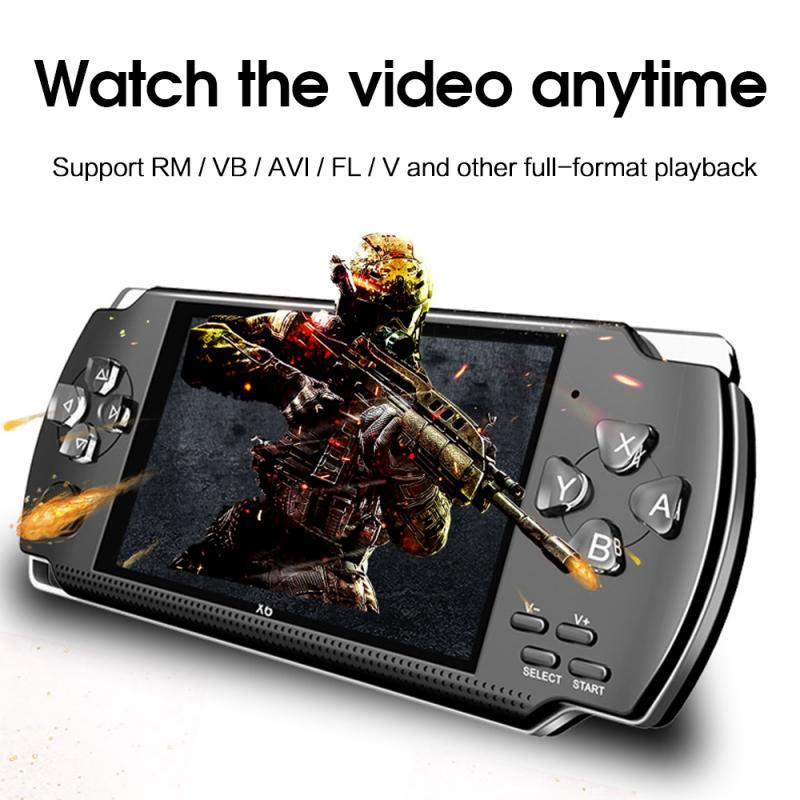 X6 4.3-Inch HD Screen MultiFunction Handheld Game Console 64Bit High-Performance Game Console Built-In 10000 Games With Camera