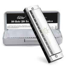 Eastar капитан Блюз губная гармоника 10 отверстий C Ключ губная гармоника музыкальный инструмент с ABS чехол Высокое качество