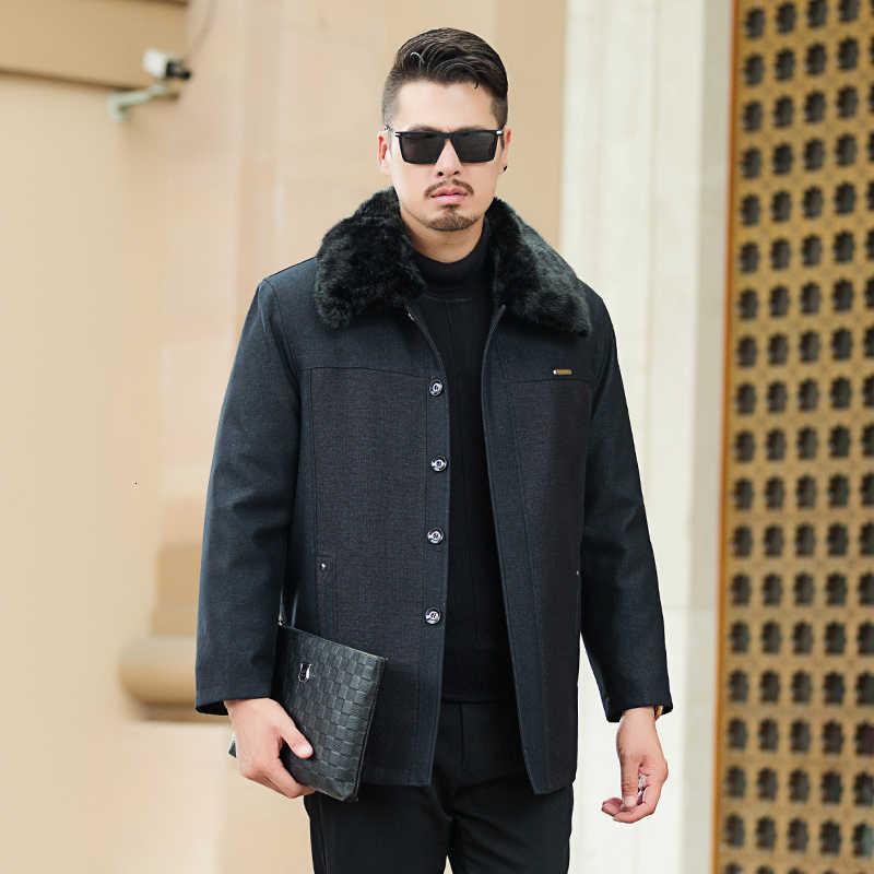 10XL 8XL 6XL 2 1 모피 칼라 남성 겨울 자 켓 2020 패션 따뜻한 양모 라이너 남자 자 켓과 코트 Windproof 남성 파 카 casaco