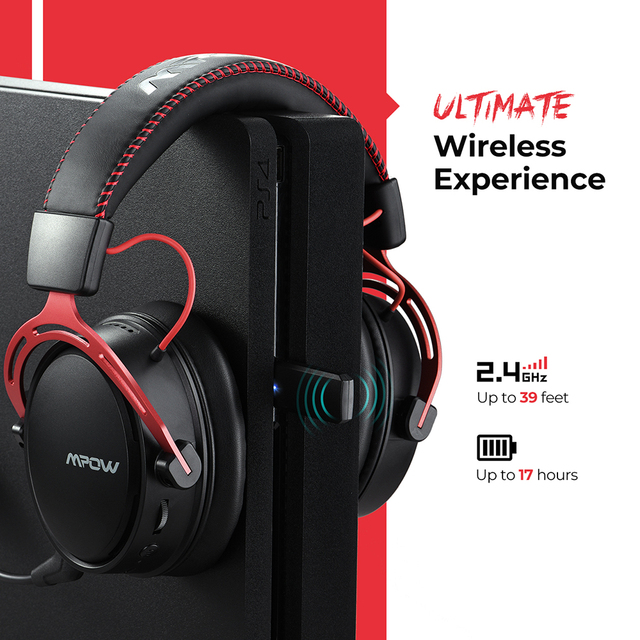 Mpow BH415 Gaming Headset 2.4GHz Wireless Headphones 3.5mm Wired Earphone With Noise Canceling Mic For PC Gamer For PS4 Xbox One 3