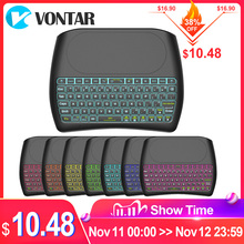 VONTAR Backlight Bluetooth keyboard D8 Super English Russian 2.4G Wireless Mini Keyboard Air Mouse Touchpad for Android TV BOX