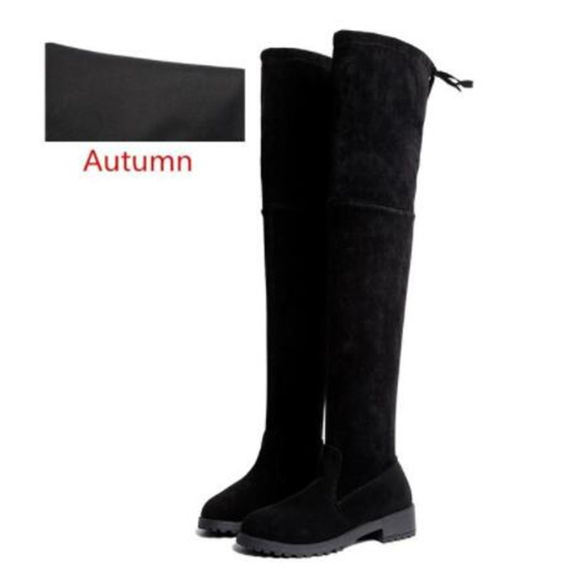 Winter Over The Knee Boots Women Stretch Fabric Thigh High Sexy Woman Shoes Long Bota Feminina Zapatos De Mujer Size 35-41