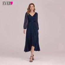 Robe Prom-Dresses Ever-Pretty Vestidos Evening Tulle Navy-Blue Elegant Sexy Long EP00342NB