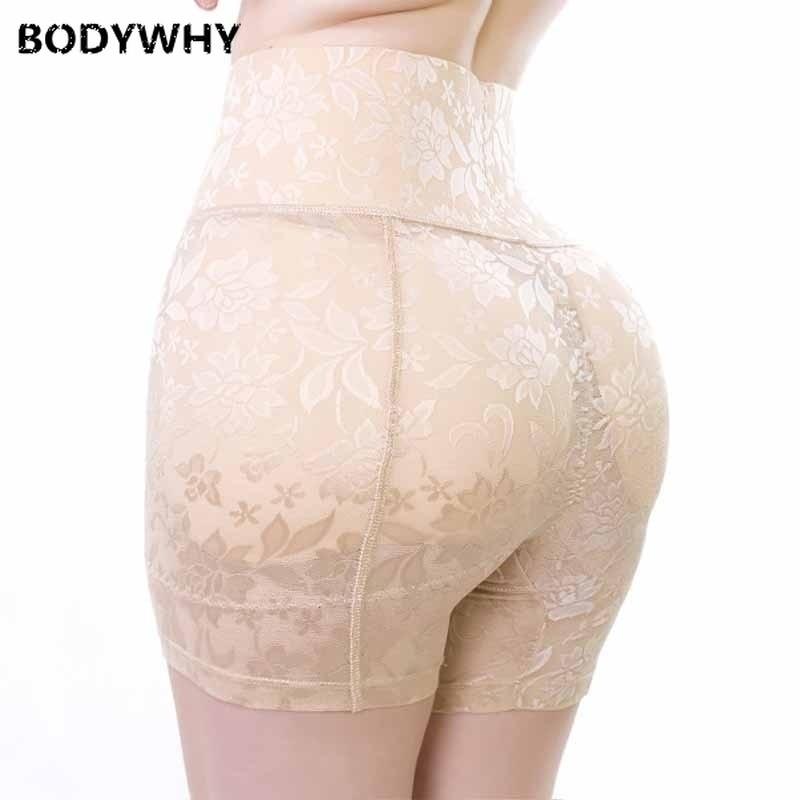 Women's Hip Enhancer Butt Lifter Padded Panty Waist Girdle Control Panties High Waist Tummy Control Hourglass Figure Boyshort