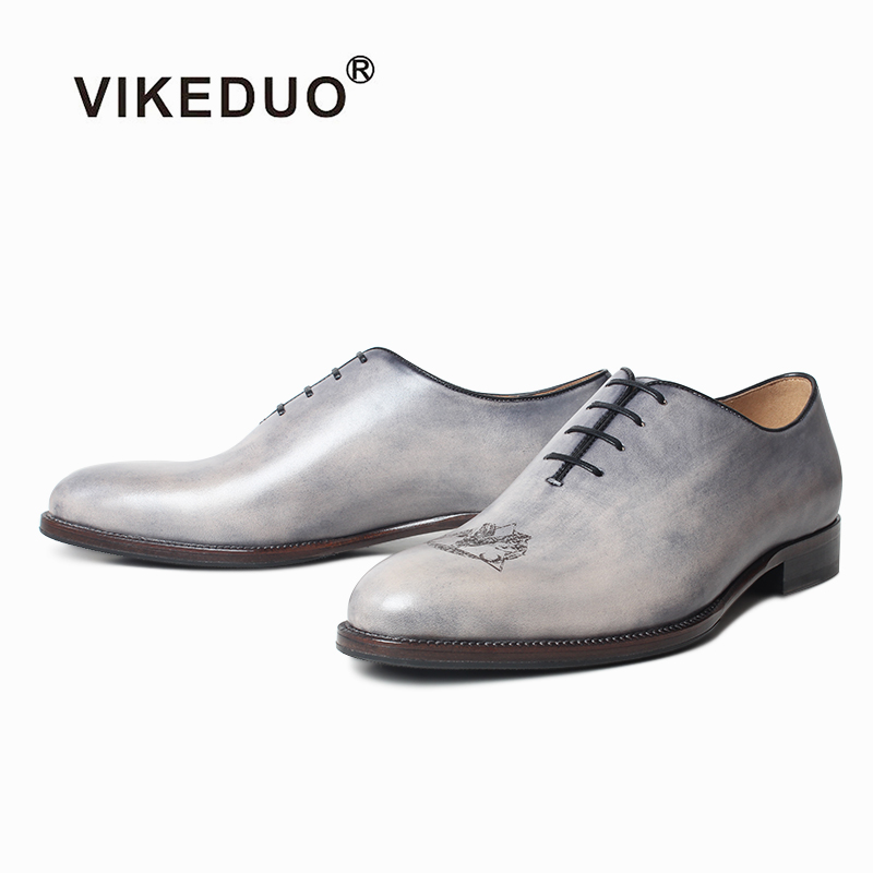 Vikeduo New Handmade Personality Mens Leather Shoes, Genuine Dresses, Wedding Office Business Dressed Sh