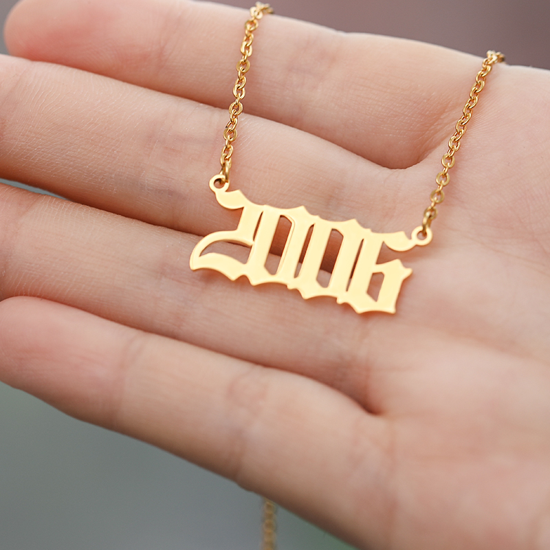 Personalized Collares Year Number from 1985 to 2019 Men Necklaces 1994 1995 1996 1997 1998 1999 Year Necklace Custom Jewelry BFF