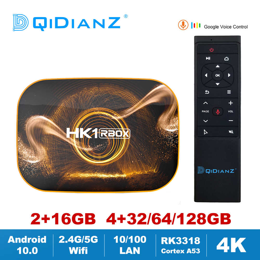 HK1 RBOX R1 Android 10.0สมาร์ททีวีกล่องRK3318 2.4G/5G Wifi Set Top Box Media Player miniทีวีDDR3 2GB 4GB HK1RBOX VS T95